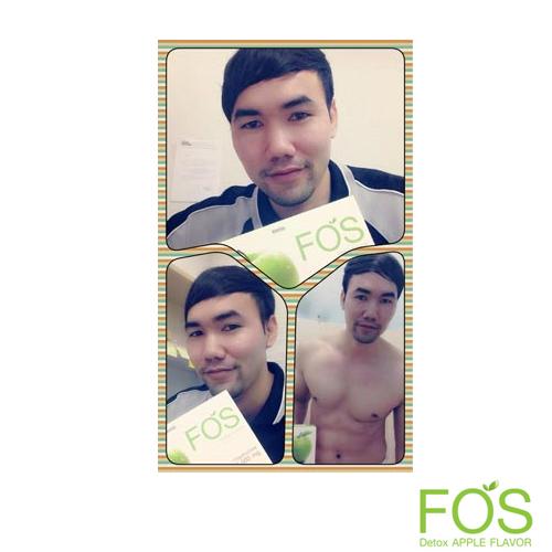 FOS Detox - ฟอส อาหารเสริมดีท็อกซ์ ดีท็อกซ์ลำไส้ กลิ่นแอปเปิ้ล (15 ซอง)